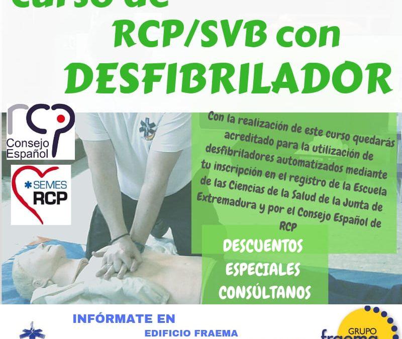 Curso de RCP/SVB con Desfibrilador